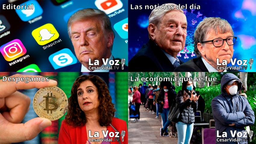 Programa Completo de La Voz de César Vidal - 12/01/21