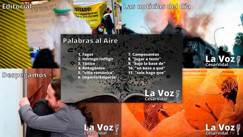 Programa Completo de La Voz de César Vidal - 19/10/20