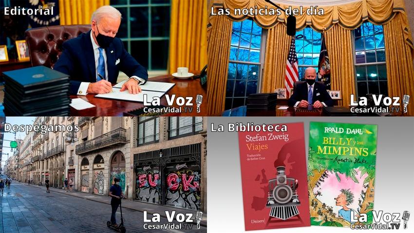 Programa Completo de La Voz de César Vidal - 21/01/21