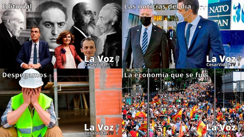 Programa Completo de La Voz de César Vidal - 15/06/21